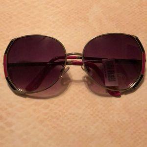 Pink/Navy Blue Sunglasses